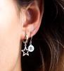 Silberne ALLTHELUCKINTHEWORLD Ohrringe CHARACTER EARRINGS LETTER - small