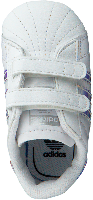 Weiße ADIDAS Babyschuhe SUPERSTAR CRIB  - large