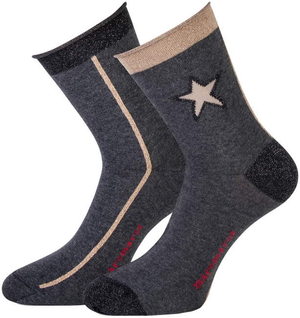 Graue MARCMARCS Socken DEWI COTTON - large