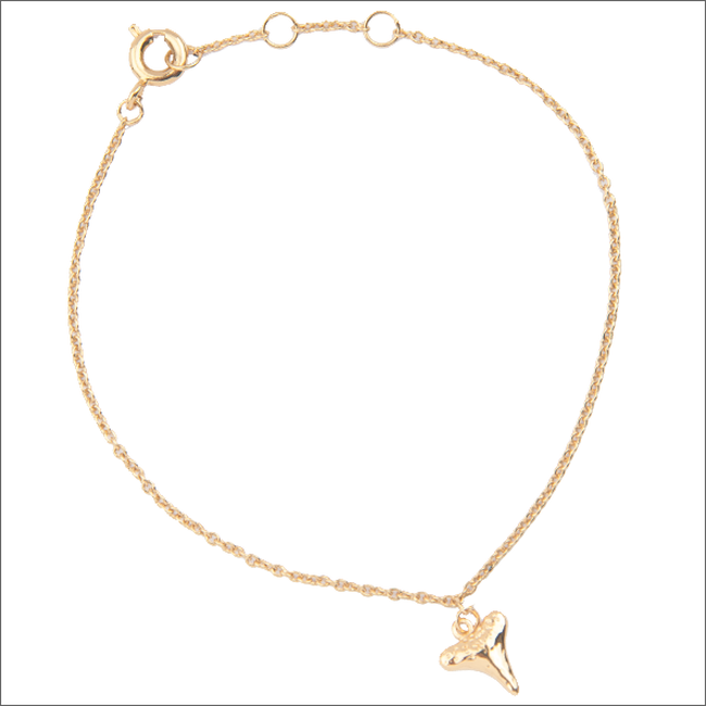 Goldfarbene ALLTHELUCKINTHEWORLD Armband SOUVENIR BRACELET TOOTH - large