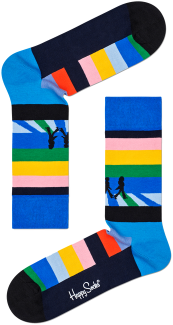 Mehrfarbige/Bunte HAPPY SOCKS Socken BEATLES LEGEND CROSSING SOCK  - large
