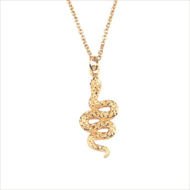 Goldfarbene ALLTHELUCKINTHEWORLD Armband SOUVENIR NECKLACE SNAKE - large
