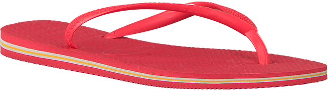 Rote HAVAIANAS Zehentrenner SLIM BRASIL LOGO - large