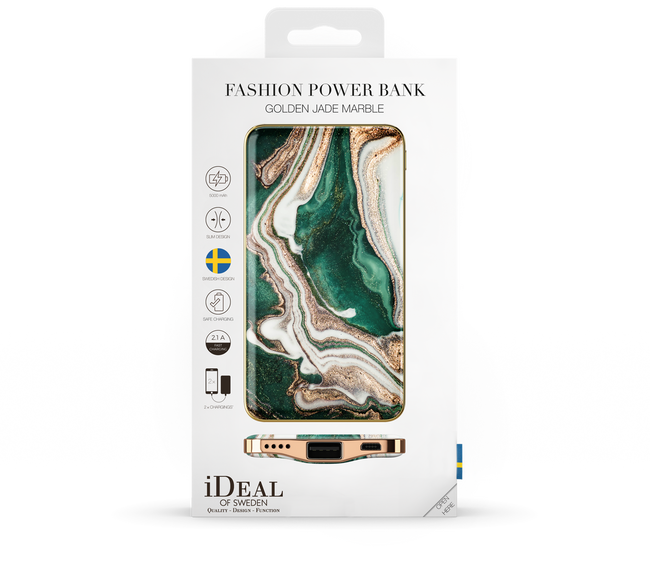 Goldfarbene IDEAL OF SWEDEN Handy-Schutzhülle FASHION POWER BANK - large