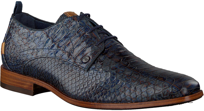 Blaue REHAB Business Schuhe GREG SNAKE FANTASY  - large