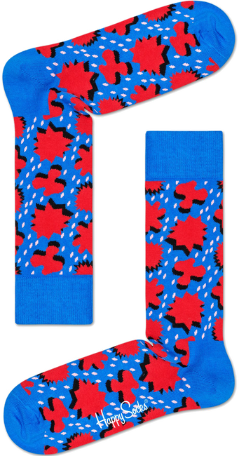 Blaue HAPPY SOCKS Socken COMIC RELIEF - large