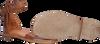 Cognacfarbene OMODA Sandalen M05060  - small