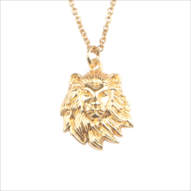 Goldfarbene ALLTHELUCKINTHEWORLD Kette SOUVENIR NECKLACE LION - large