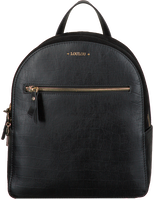 Schwarze LOULOU ESSENTIELS Rucksack 01BACKPACK CLASSY CROC  - medium