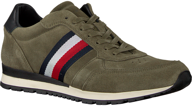 green TOMMY HILFIGER shoe LUXERY SUEDE RUNNER  - large