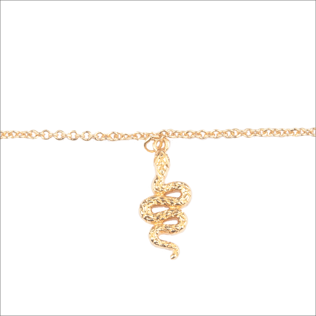 Goldfarbene ALLTHELUCKINTHEWORLD Armband SOUVENIR BRACELET SNAKE - large