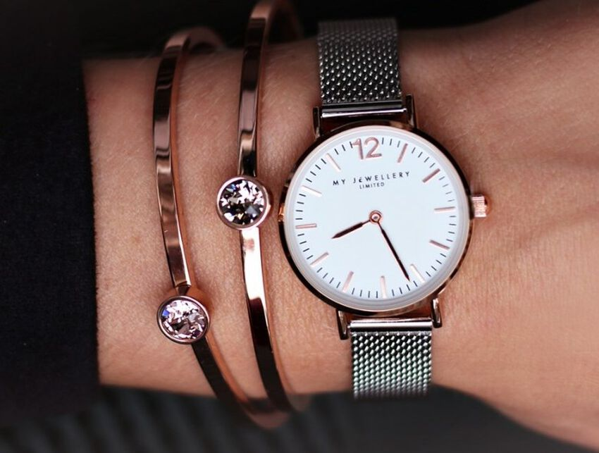 Silberne MY JEWELLERY Uhr SMALL BICOLOR WATCH - larger