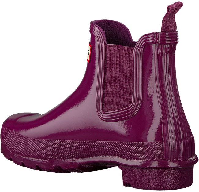 Rote HUNTER Gummistiefel ORIGINAL CHELSEA GLOSS - large