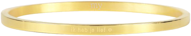 Goldfarbene MY JEWELLERY Armband IK HEB JE LIEF - large