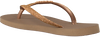 Goldfarbene HAVAIANAS Pantolette SLIM GLITTER  - small