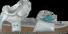 Silberne BUNNIES JR Sandalen GIGI GAAF - small