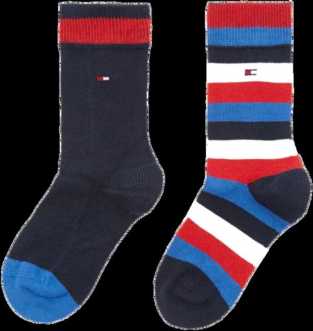 Blaue TOMMY HILFIGER Socken TH KIDS BASIC STRIPE SOCK 2P - large