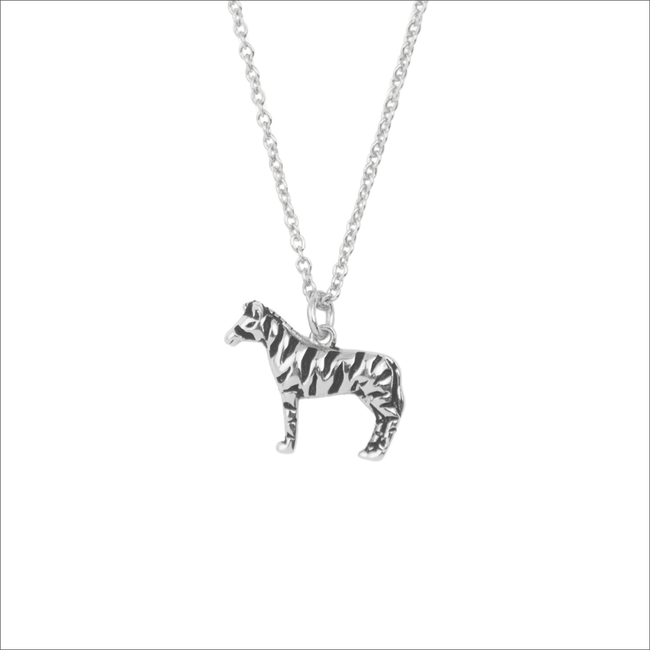 Silberne ALLTHELUCKINTHEWORLD Kette SOUVENIR NECKLACE ZEBRA - large