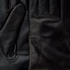 Schwarze UGG Handschuhe CLASSIC LEATHER SMART GLOVE - small