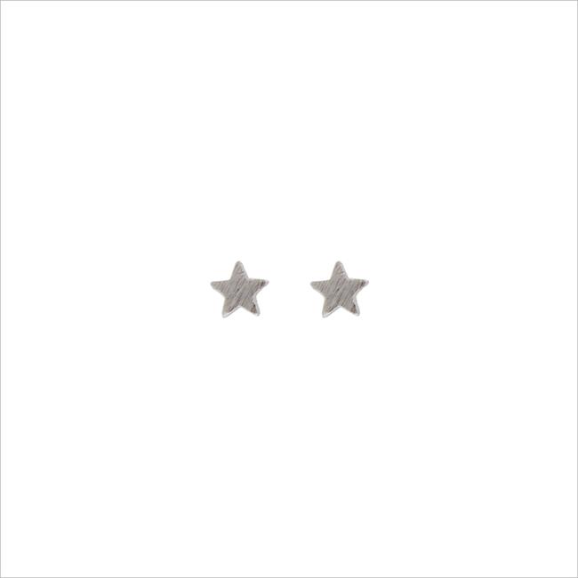 Silberne ALLTHELUCKINTHEWORLD Ohrringe PETITE EARRINGS STAR - large