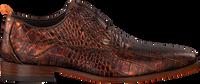 Cognacfarbene REHAB Business Schuhe GREG CROCO  - medium