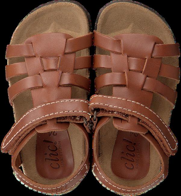 Braune CLIC! Sandalen ARGOS - large