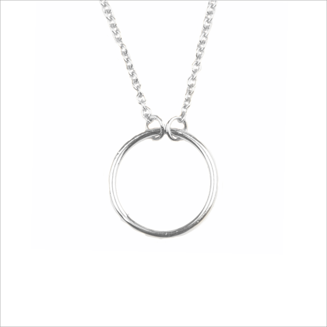 Silberne ALLTHELUCKINTHEWORLD Kette SOUVENIR NECKLACE CIRCLE - large