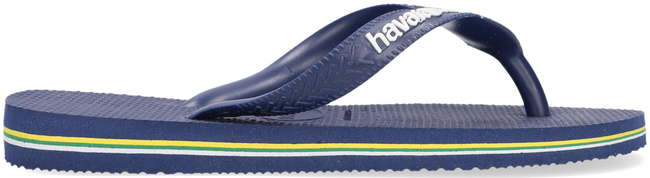 Blaue HAVAIANAS Zehentrenner BRASIL LOGO KIDS - large