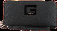 Schwarze GUESS Portemonnaie JANAY SLG LARGE ZIP AROUND  - medium