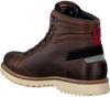 Cognacfarbene NZA NEW ZEALAND AUCKLAND Schnürboots FRANKTON HIGH  - small