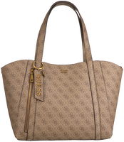 Braune GUESS Shopper NAYA TRAP TOTE  - medium