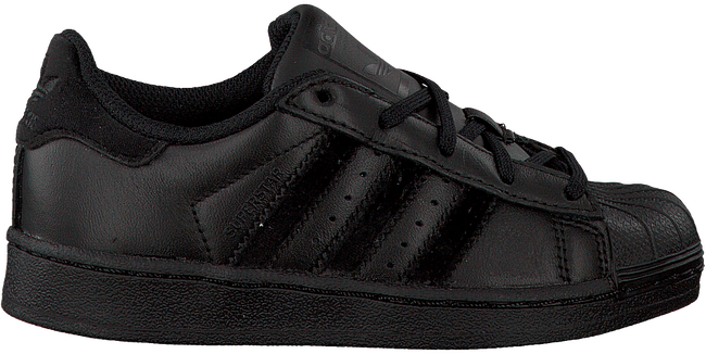 Schwarze ADIDAS Sneaker SUPERSTAR KIDS - large