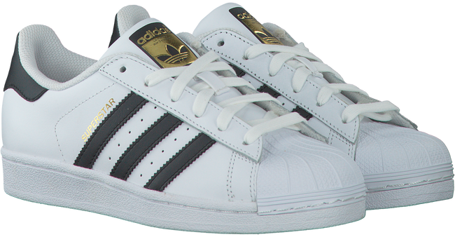 Weiße ADIDAS Sneaker SUPERSTAR DAMES - large