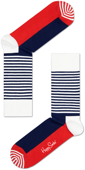 Weiße HAPPY SOCKS Socken HALF STRIPE - large