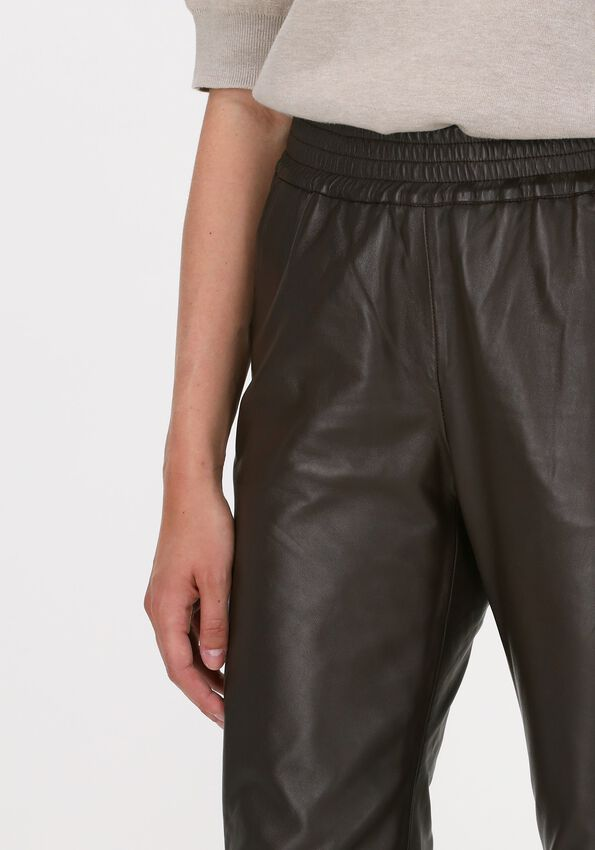 Braune CO'COUTURE Hose SHILOH CROP LEATHER PANT  - larger