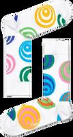 Weiße HAPPY SOCKS Socken HYPNOSIS  - medium