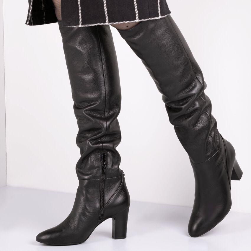 Schwarze UNISA Hohe Stiefel URICA  - larger
