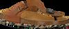 Cognacfarbene DEVELAB Pantolette 48129 - small
