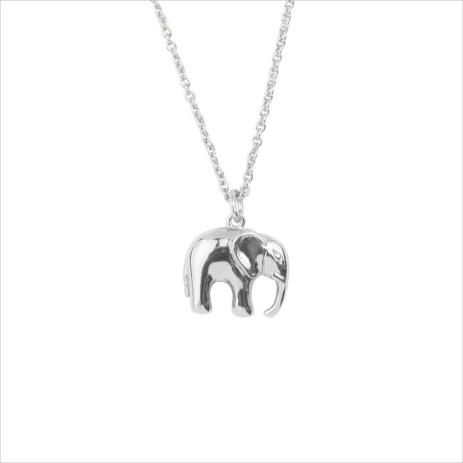Silberne ALLTHELUCKINTHEWORLD Kette SOUVENIR NECKLACE ELEPHANT - large