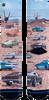 Mehrfarbige/Bunte XPOOOS Socken MUSCLE CARS  - small