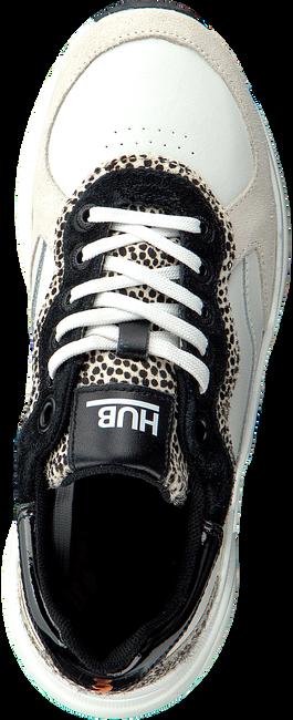 Weiße HUB Sneaker low ROCK L59 PONY HAIR  - large