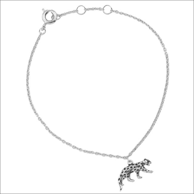 Silberne ALLTHELUCKINTHEWORLD Armband SOUVENIR BRACELET LEOPARD - large