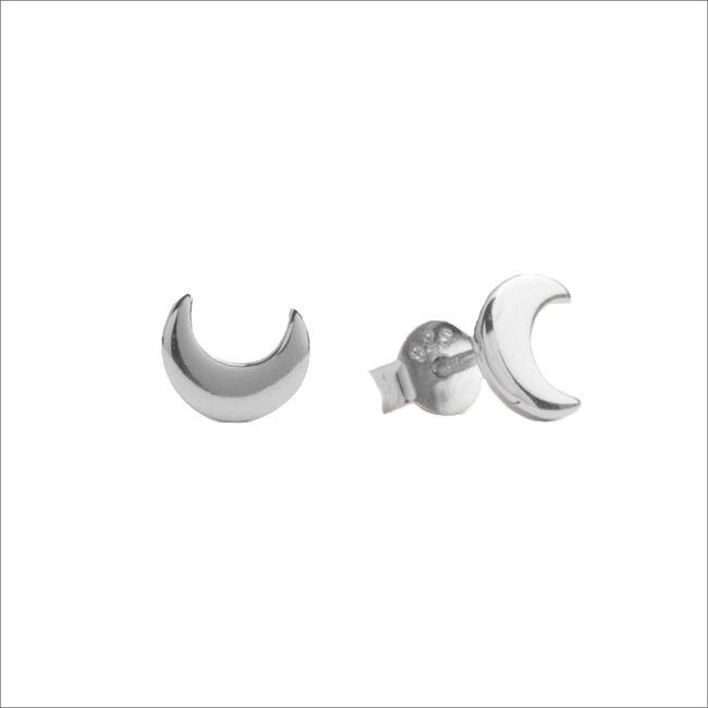 Silberne ALLTHELUCKINTHEWORLD Ohrringe PARADE EARRINGS MOON - large