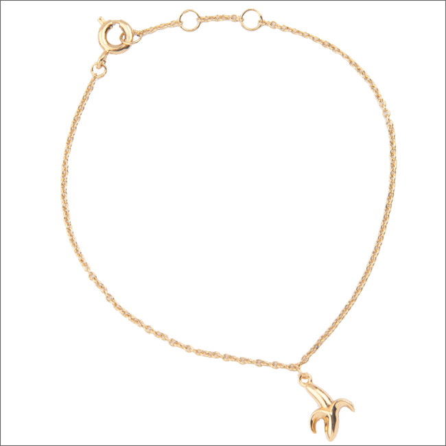 Goldfarbene ALLTHELUCKINTHEWORLD Armband SOUVENIR BRACELET BANANA - large