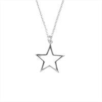 Silberne ALLTHELUCKINTHEWORLD Kette SOUVENIR NECKLACE STAR - medium