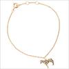 Goldfarbene ALLTHELUCKINTHEWORLD Armband SOUVENIR BRACELET ZEBRA - small