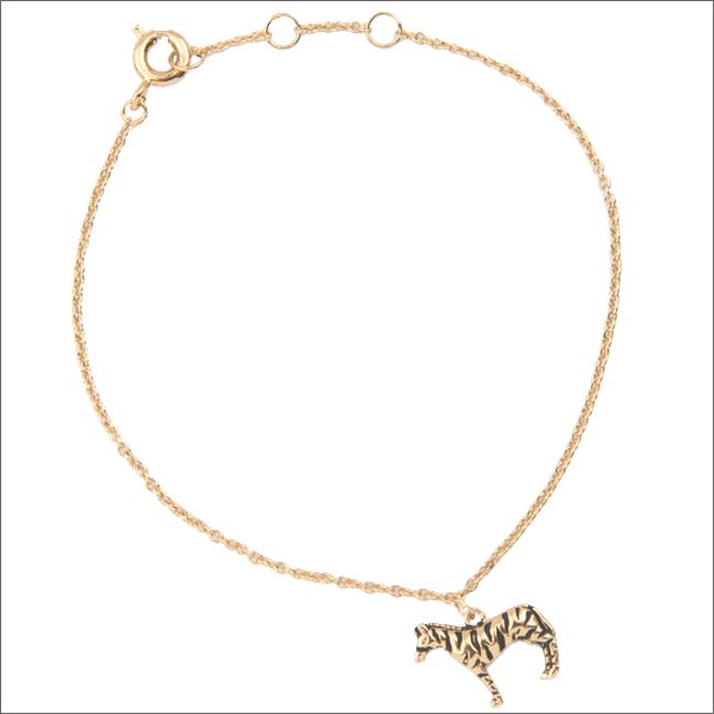 Goldfarbene ALLTHELUCKINTHEWORLD Armband SOUVENIR BRACELET ZEBRA - large