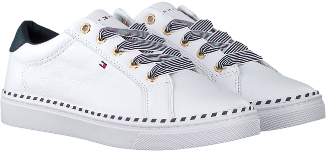 Weiße TOMMY HILFIGER Sneaker low NAUTICAL LACE UP  - large