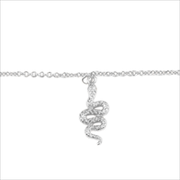 Silberne ALLTHELUCKINTHEWORLD Armband SOUVENIR NECKLACE SNAKE - medium