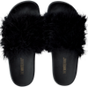 Schwarze THE WHITE BRAND Pantolette FEATHERS - small